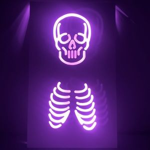 Neon Skeleton Sign